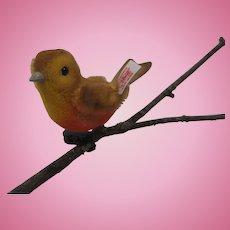 Steiff Mohair Christmas Tree Bird With IDs