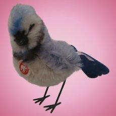 Steiff Mohair Blue Jay Bird with All IDs