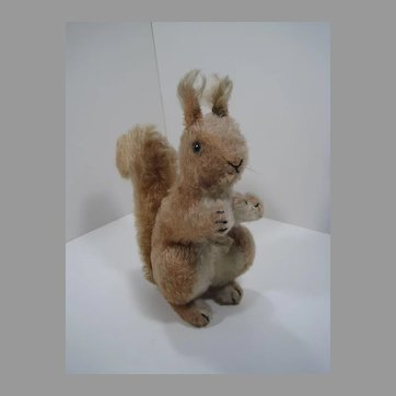 Steiff Early Postwar Red-Brown Mohair Squirrel With IDs
