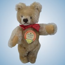 Steiff Almost Smallest Blonde Original Teddy Bear With IDs