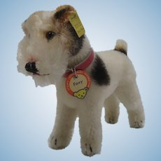 Steiff Medium Sized Foxy Fox Terrier With All IDs