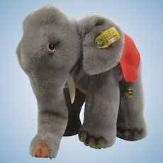 Steiff Medium Sized Standing Elephant With All IDs