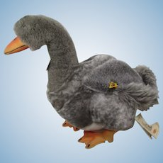 Steiff Grey Plush Goose With All IDs