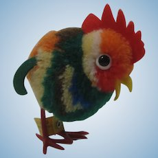 Steiff Woolen Miniature Rooster With All Ids