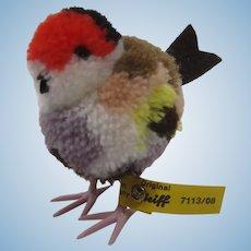 Steiff Woolen Miniature Finch Bird With All IDs