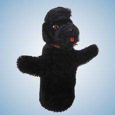 Steiff Black Mohair Snobby Poodle Hand Puppet