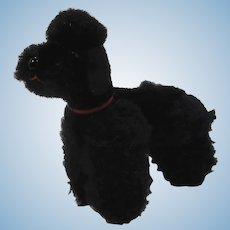 Steiff Smallest Black Mohair and Wool Plush Snobby Poodle