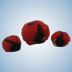 Steiff Woolen Miniature Ladybug Family