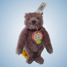 Steiff Dicky Mauve Teddy Bear Replica With All IDs