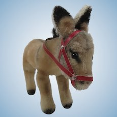 Steiff Smallest Early Postwar Mohair Donkey With IDs