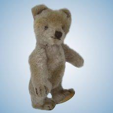 Steiff's Almost Smallest Fully Jointed Caramel Mohair Original Teddy Bear