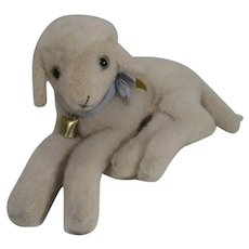 Steiff Larger and Lovely Lying Lamby Lamb With IDs
