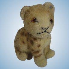 Steiff Early Postwar Sitting Wool Plush Lion Cub With ID