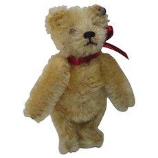 Steiff Prewar Smaller Blonde Mohair Teddy Bear With ID