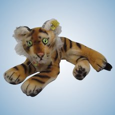 Steiff Smallest Lying Tiger With All IDs