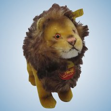 Steiff Medium Sized Standing Leo Lion With All IDs