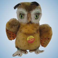 Steiff Medium Sized Wittie Owl With IDs