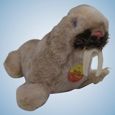 Steiff Soft Plush Wally Walrus With All IDs