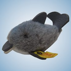 Steiff Soft Plush Clippy Dolphin With IDs