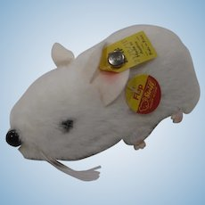 Steiff White Plush Fiep Mouse With All IDs