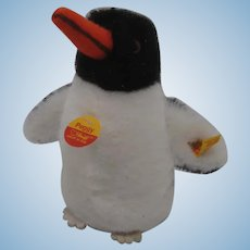 Steiff Soft Plush Peggy Penguin With All IDs