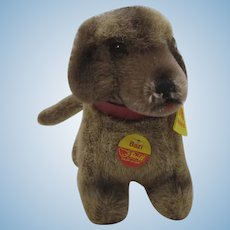 Steiff Soft Plush Bazi Dachshund With All ID