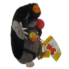 Steiff Soft Plush Maxi Mole With All IDs