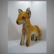 Steiff Largest Sized Xorry Fox With All IDs