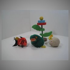 Steiff Collection of Three Woolen Miniatures With All IDs