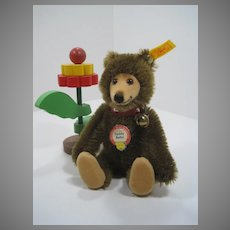 Steiff Brown Mohair Teddy Baby Replica With All IDs