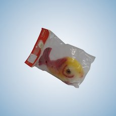 Steiff Mohair Flossy Fish In Original Packaging With FAO Schwarz Tag and All IDs