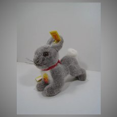 Steiff's Grey and White Soft Plush Hoppy Rabbit With All IDs