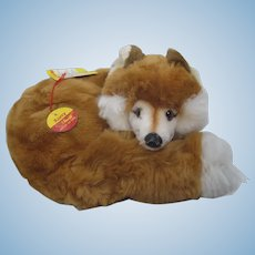 Steiff Soft Plush Curled Up Xorry Fox With All IDs