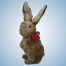 Steiff Very Early Postwar Begging Artificial Plush Rabbit With Great ID