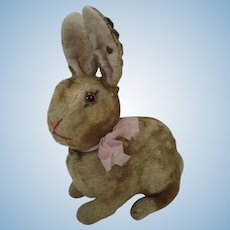 Steiff Very Early Postwar Sitting Artificial Plush Rabbit With Great ID