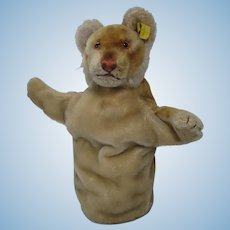 Steiff Young Lion Mohair Puppet With IDs