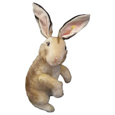 Steiff Monumental Mohair Begging Rabbit With IDs