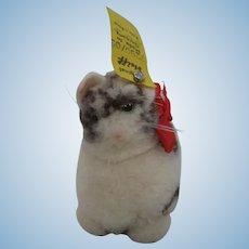 Steiff Woolen Miniature Cat With All IDs