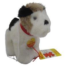 Steiff Soft Plush Foxy Fox Terrier With All IDs