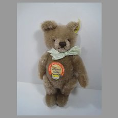 Steiff Smaller Caramel Mohair Original Teddy Bear With All IDs
