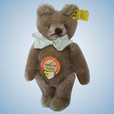 Steiff's Smaller Caramel Colored Original Teddy Bear With All IDs