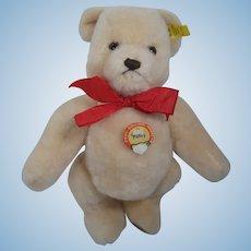 Steiff Medium Sized Light Tan Dralon Petsy Bear With All IDs