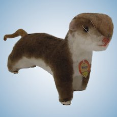 Steiff Waggy Weasel With ID