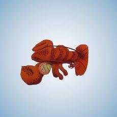 Steiff Smallest Felt Crabby Lobster With ID