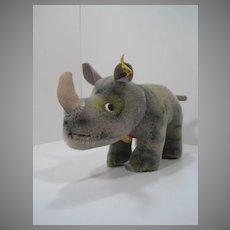 Steiff Medium Sized Nosy Rhino With All IDs