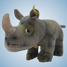Steiff Medium Sized Nosy Rhino With All IDs