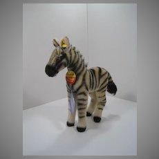 Steiff Medium Sized Mohair Zebra With IDs
