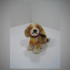 Steiff Smallest Sitting Mohair Biggie Beagle With All IDs