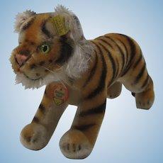 Steiff Medium Sized Running Tiger With All IDs