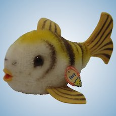 Steiff Smallest Mohair Tiger Fish Flossy Fish With IDs